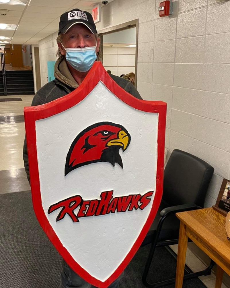 Thanks Kevin for the Redhawks Shield!