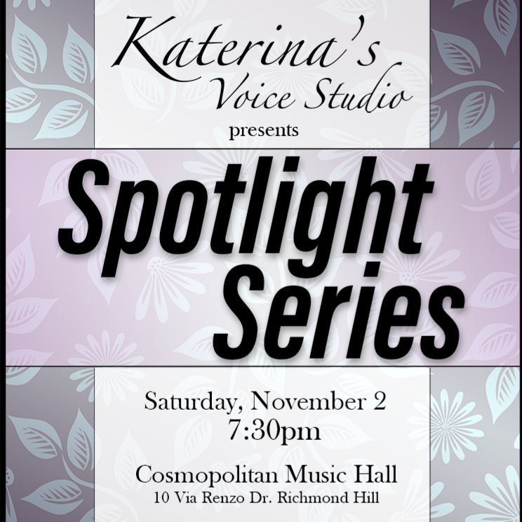 Katerina's Voice Studio: Spotlight Series!