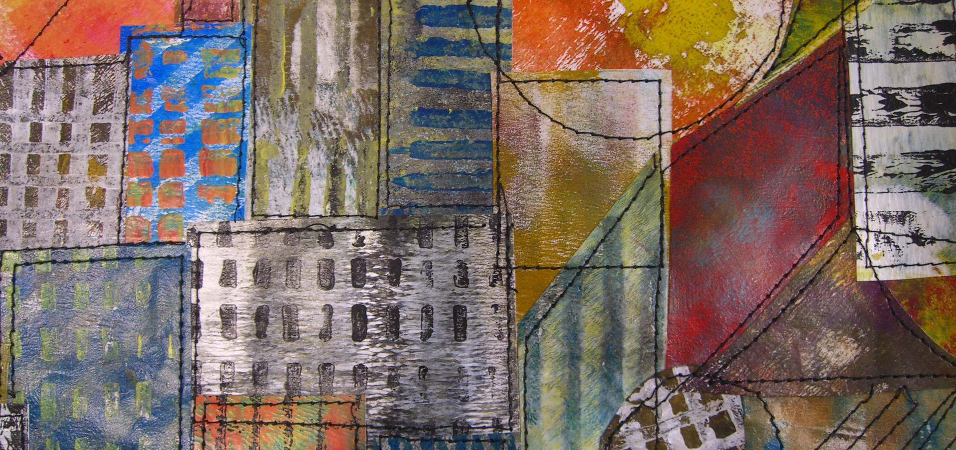 Painted Paper Quilt #2 (Detail)