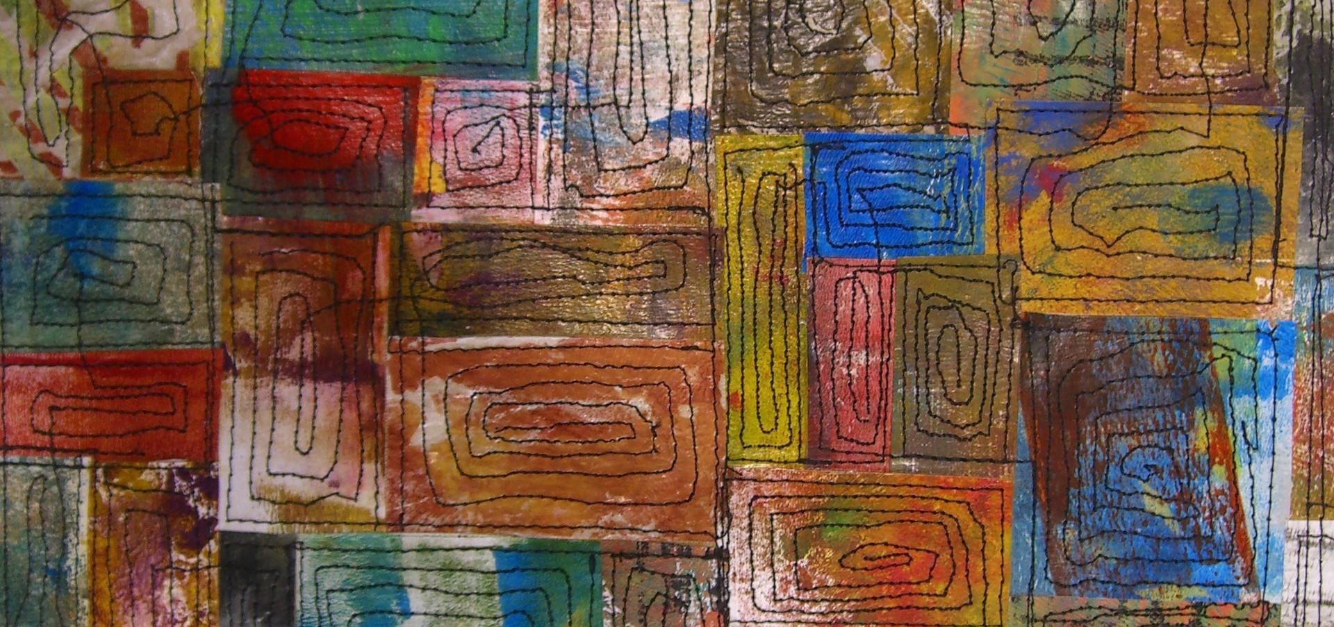 Painted Paper Quilt #4