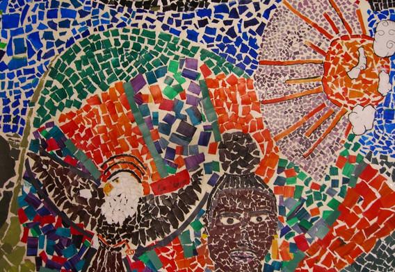 Collaborative Mural 2 (Paper Mosaic)