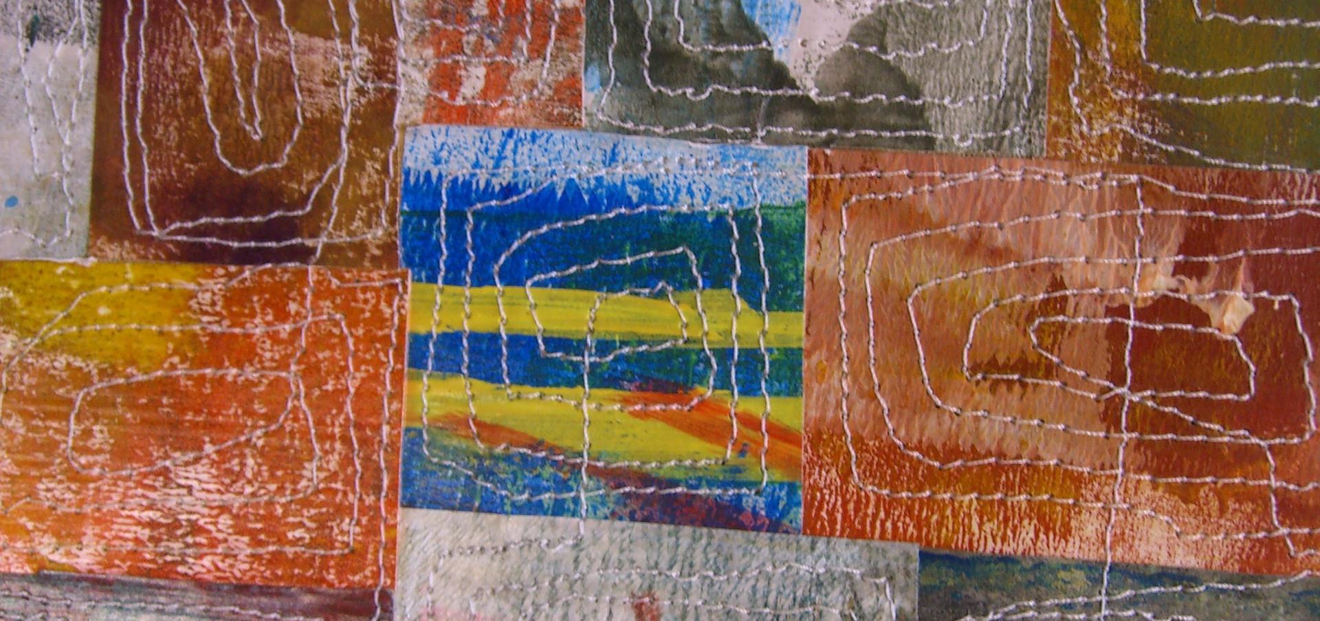 Painted Paper Quilt #7 (Detail)