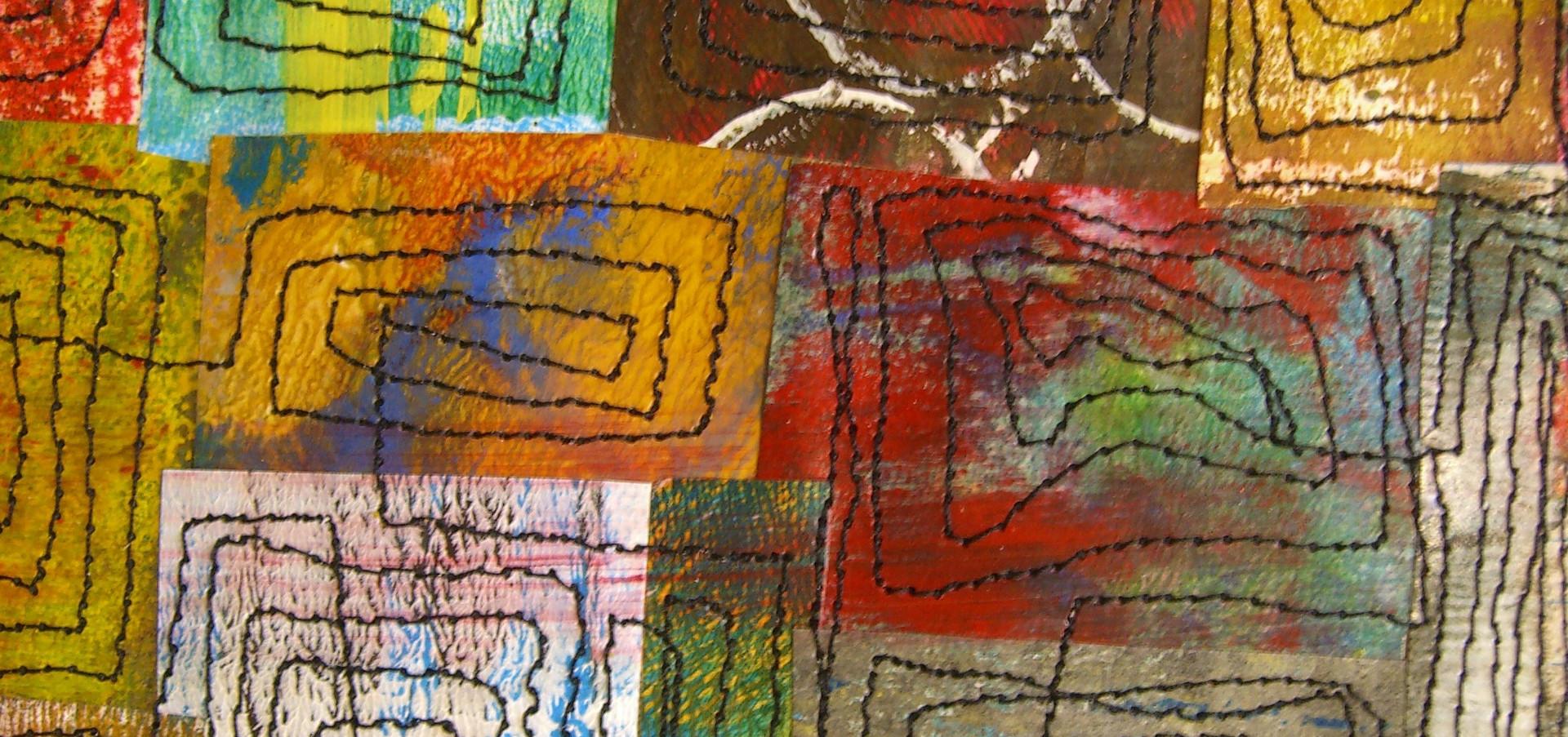 Painted Paper Quilt # 6 (Detail 1)