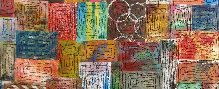Painted Paper Quilt #6