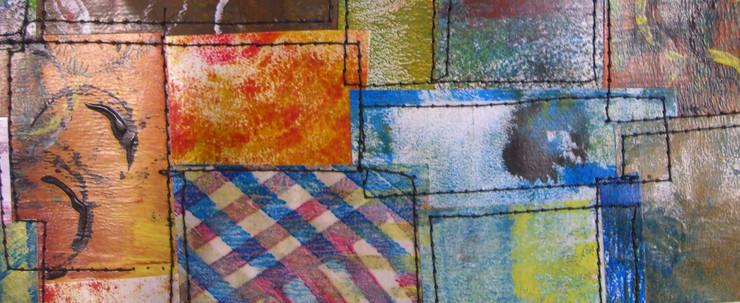 Painted Paper Quilt # 1 (Detail)