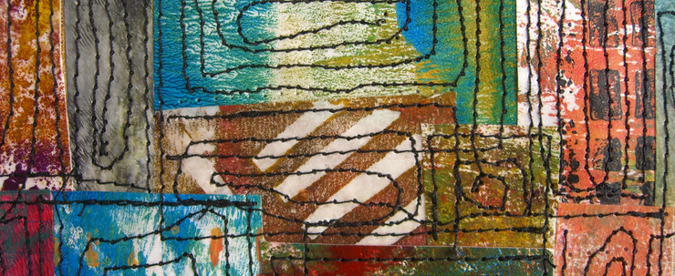 Painted Paper Quilt #4 (Detail 2)