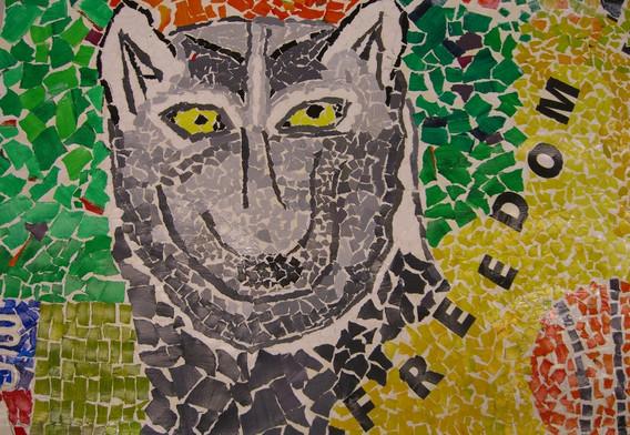 Collaborative Mural 1 (Paper Mosaic)
