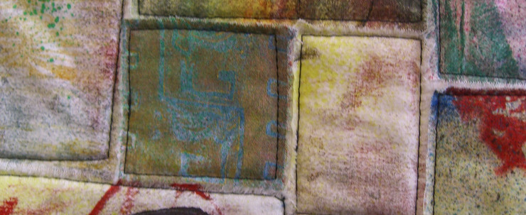 Printed Fabric Quilt #2 (Detail 1)