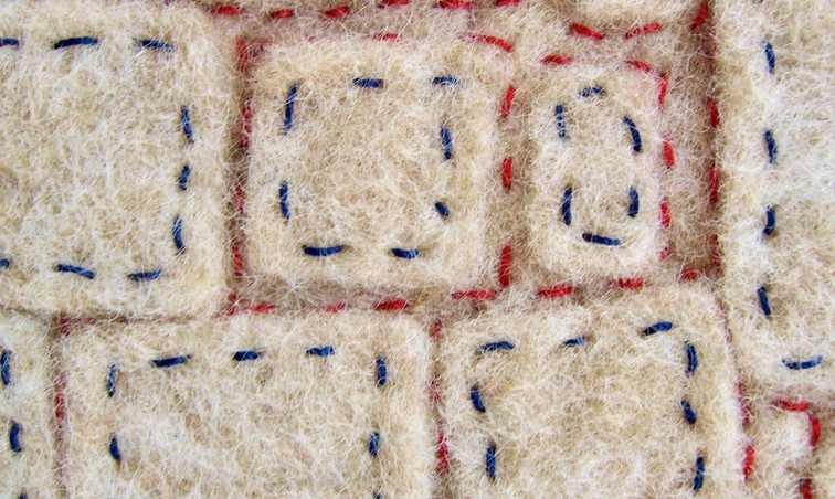 Felted Mini-Quilt (Detail)