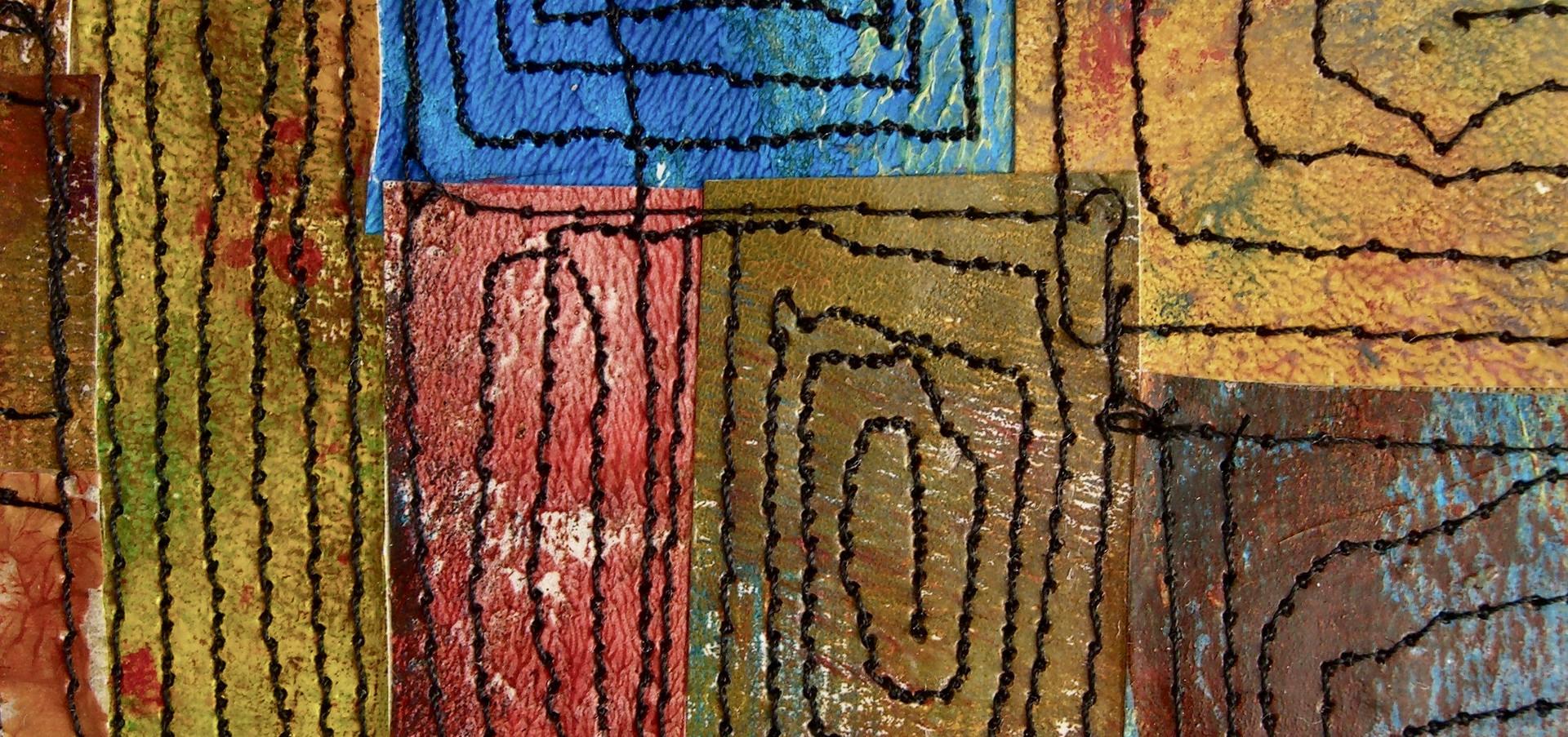 Painted Paper Quilt #4 (Detail 1)