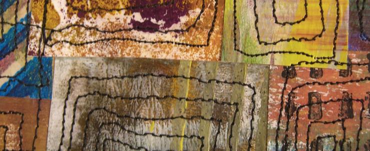Painted Paper Quilt #6 (Detail 2)
