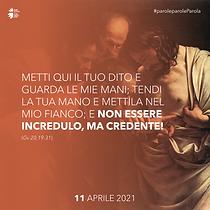 Commento al Vangelo di domenica 11 aprile 2021