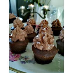 Muffins chocolat et crème amaretto
