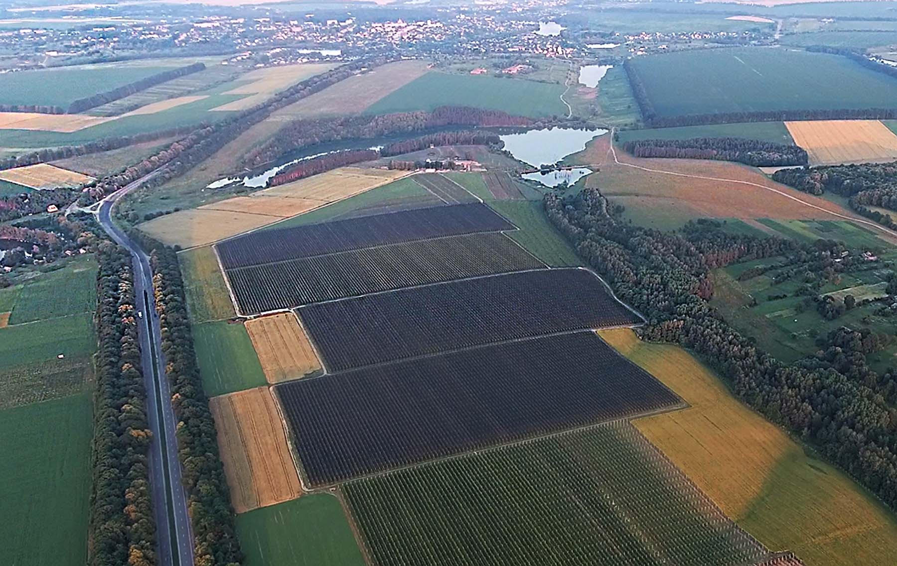 Farm from the air