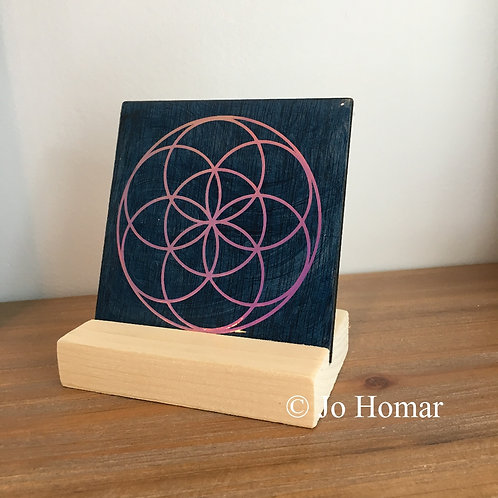 Seed of Life Positive Energy Charger Art by Jo Homar