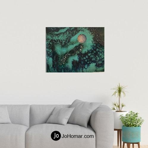 Gemstone Art with dream catcher by Jo Homar