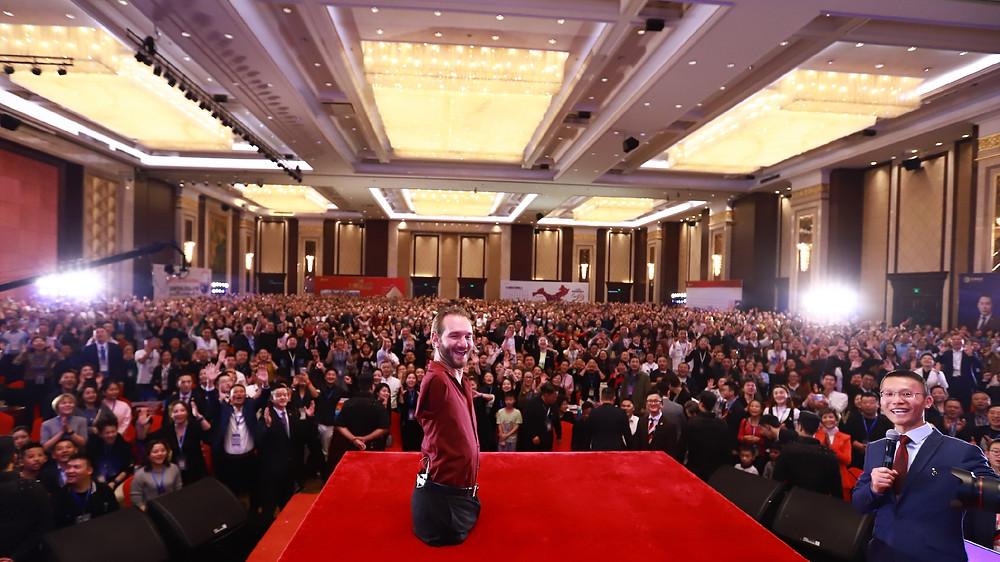 Nick Vujicic Life Without Limits Talk in Chengdu China 2018