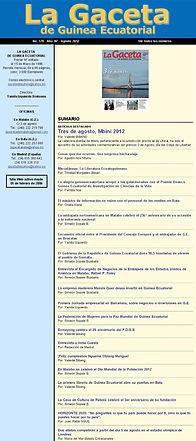 La Gaceta de Guinea Agosto 2013