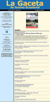 La Gaceta de Guinea Noviembre 2014