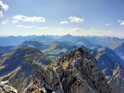 Blick vom Rauhhorn auf das beliebte Fotoziel - den Schrecksee