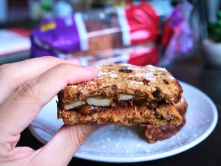 Gluten Free Cinnamon Raisin Apple Butter Sandwich