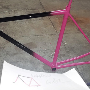 Two tone recoat of old Spicer track frame