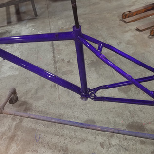Frame modification and powder coat