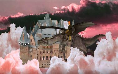 Victor op zijn draak