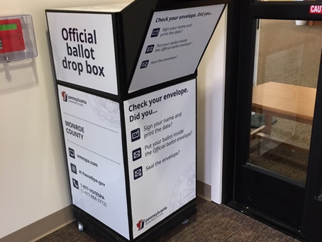 Offial Ballot Box Returns to Library!