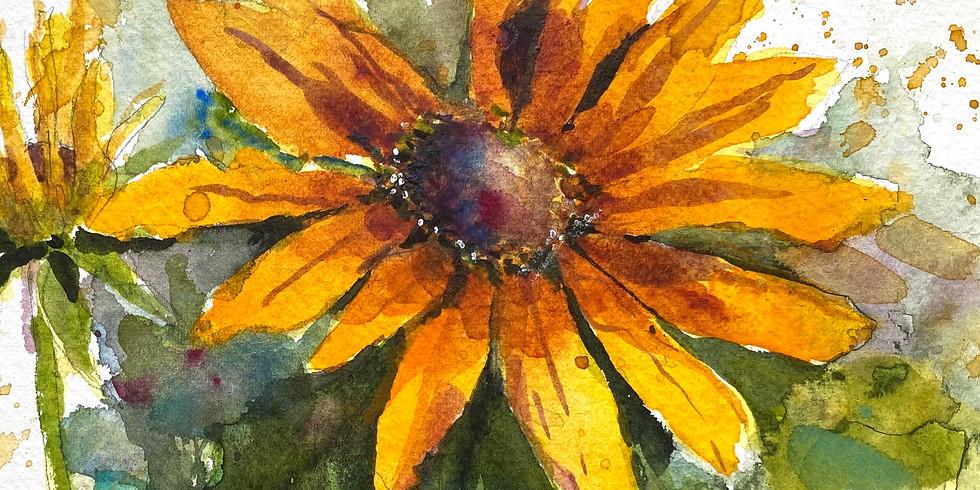 Painting The Garden (sunflowers)
