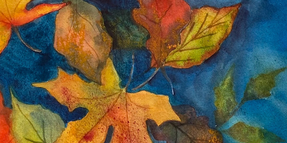 Painting The Garden (Fall leaves)