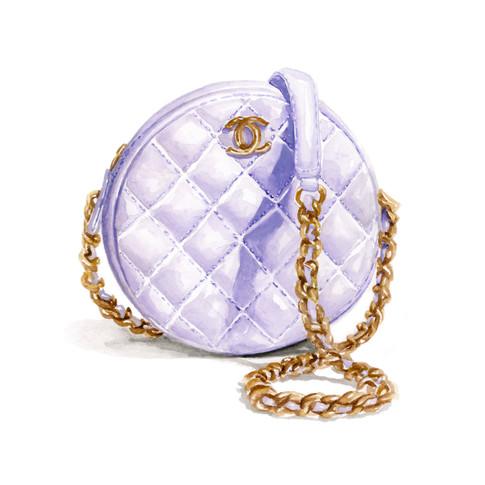 purple chanel bag