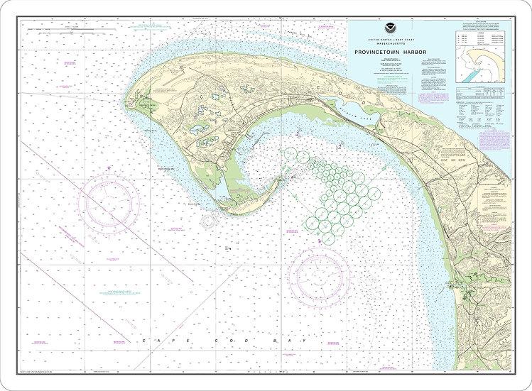 Nautical Chart 13249 'Provincetown Harbor' Placemat