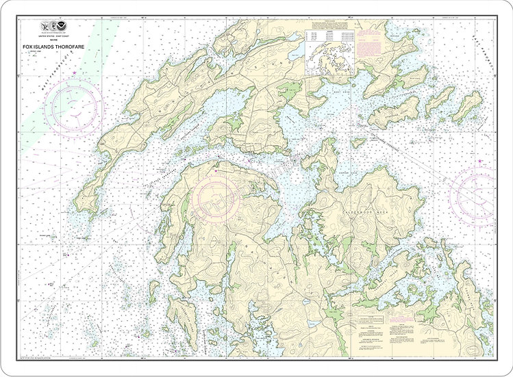 Nautical Chart 13308 'Fox Island Thorofare' Placemat