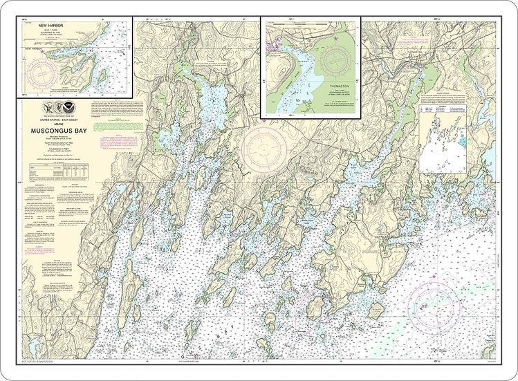 Nautical Chart 13301 'Muscongus Bay' Placemat