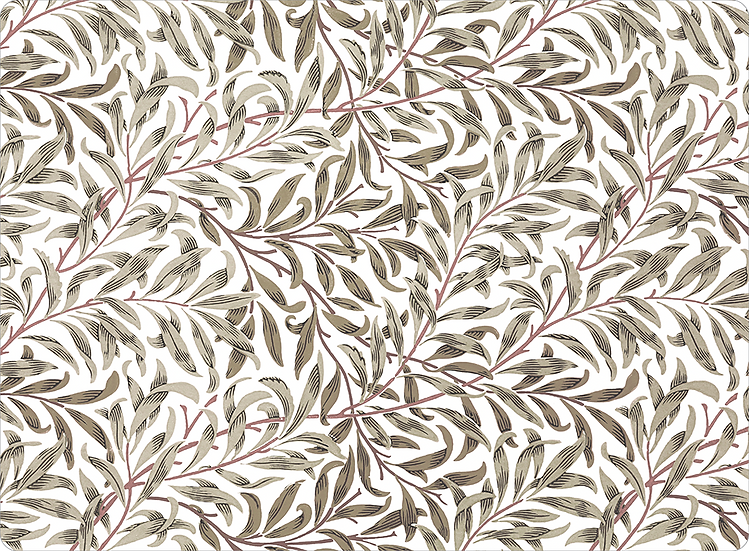William Morris Wallcovering 'Willow Bough' Taupe Placemat