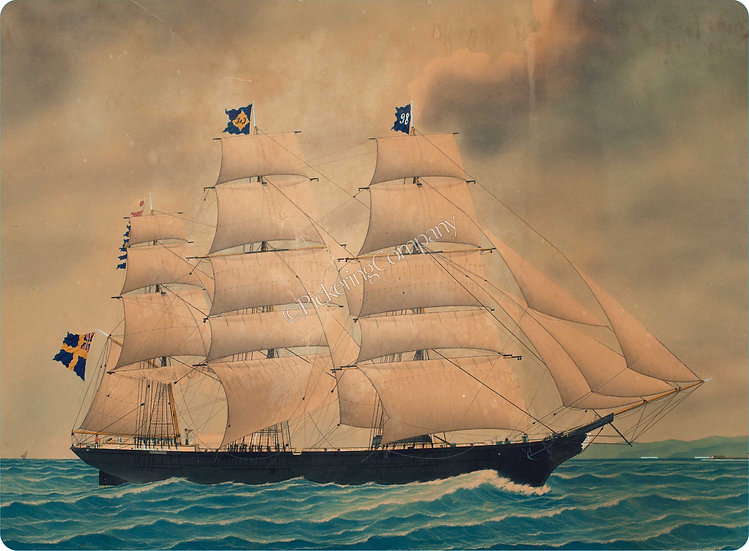 Currier & Ives 'Three Masted Schooner' Placemat