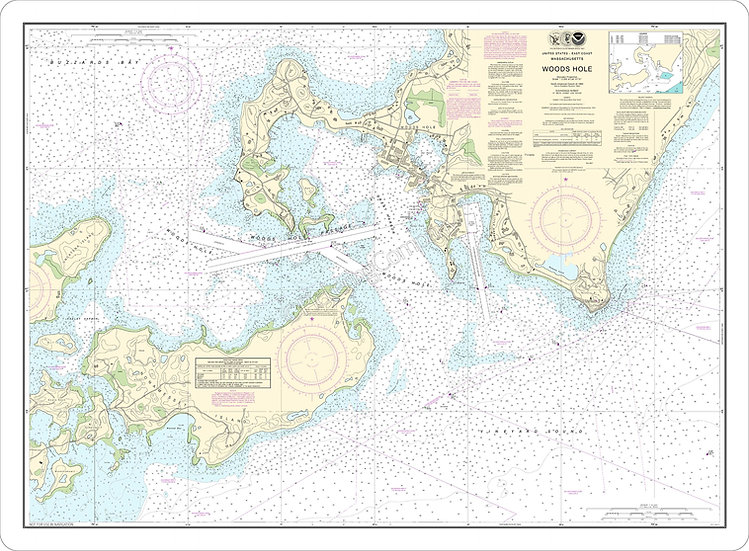 Nautical Chart 13235 'Woods Hole' Placemat