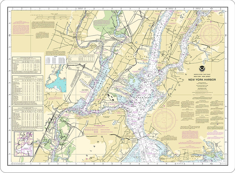 Nautical Chart 12327 'New York Harbor' Placemat