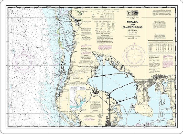 Nautical Chart 11412 'Tampa Bay and St. Joseph Sound' Placemat