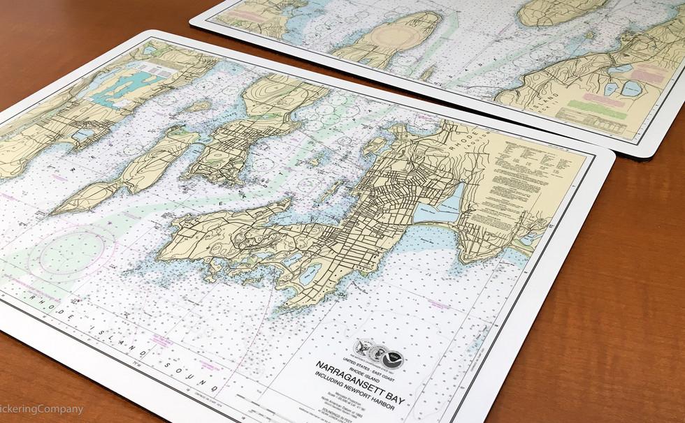 Nautical Chart Placemats