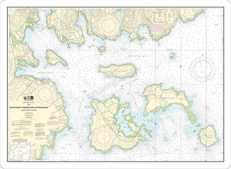 Nautical Chart 13321 'Southwest Harbor' Placemat