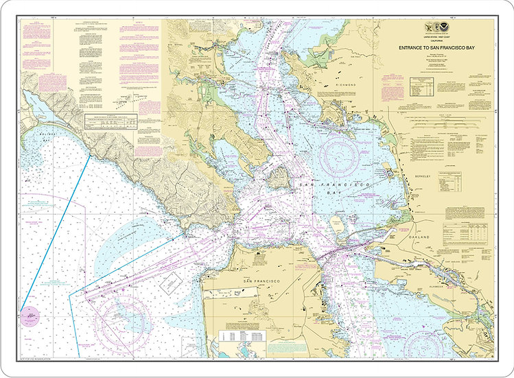 Nautical Chart 18649 'Entrance to San Francisco Bay' Placemat