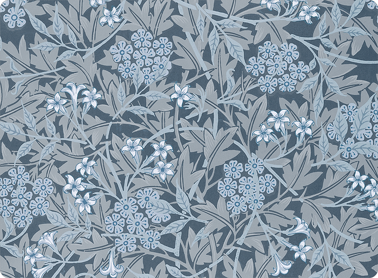 William Morris Wallcovering 'Jasmine' Blue Placemat