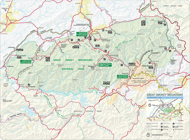 'Great Smokey Mountains National Park' Placemat