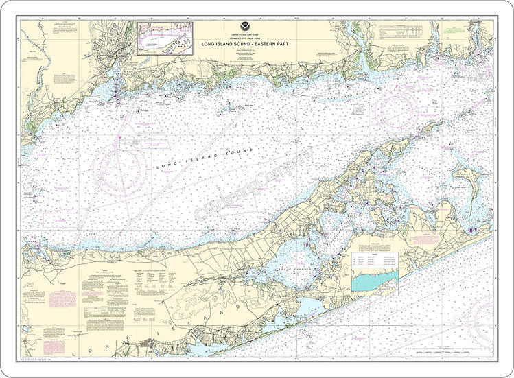 Nautical Chart 12354 'Long Island Sound Eastern Part' Placemat