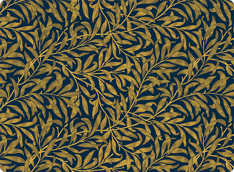 William Morris Wallcovering 'Willow Bough' Navy Placemat