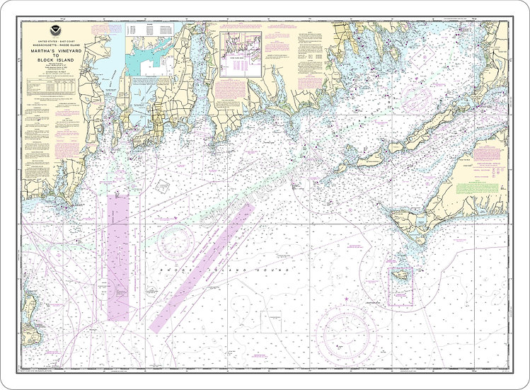 Nautical Chart 13218 'Martha's Vineyard to Block Island' Placemat