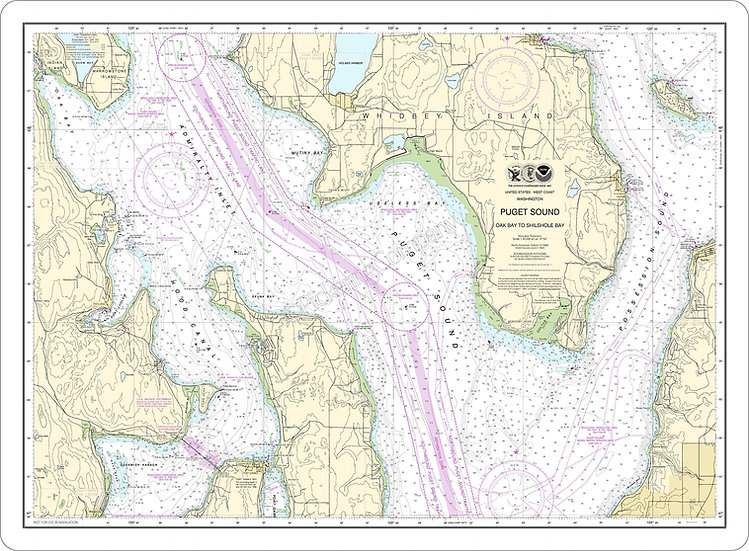 Nautical Chart 18473 'Puget Sound' Placemat