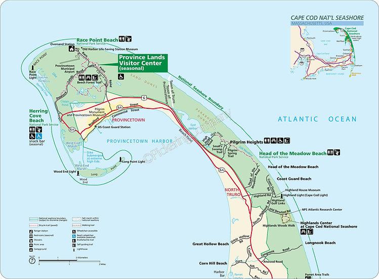 'Cape Cod National Seashore' Placemats - Set of 4